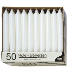 50 Table candles  2;1 cm 19;6 c