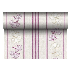 "Table Runner Tissue Purple ""ROYAL Collection"" 24m x 40cm Roll"