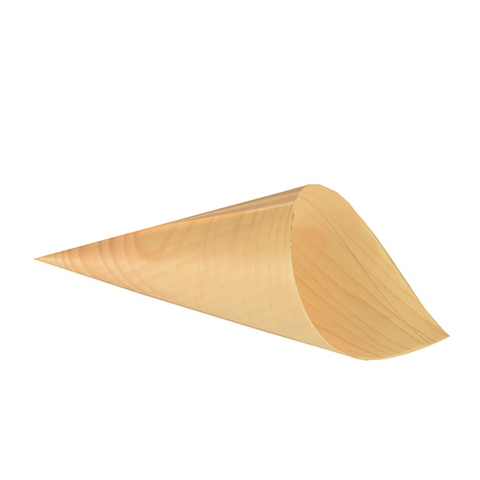 "50 Fingerfood cone cup made of wood ""pure"" Ø 9,5 cm · 18 cm"