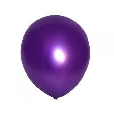 25 Balloons Latex Metallic Violet