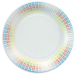 "10 Plates Paper ""Equalizer Classic"" Round 23 cm"