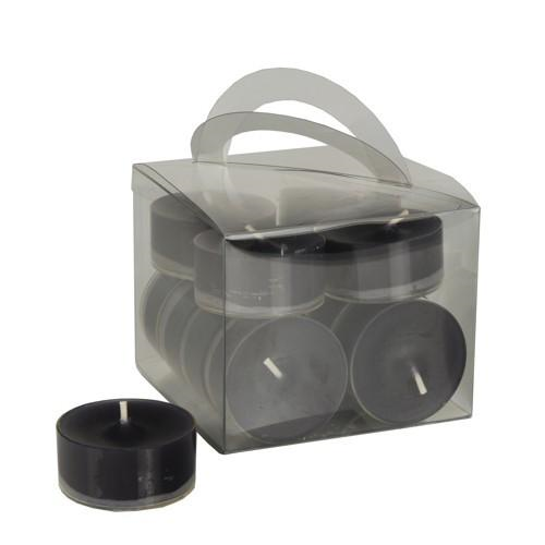 12 Tealight Candles 38mm 18mm Black