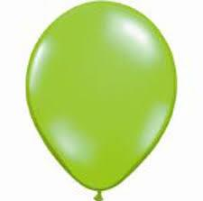25 Balloons Latex Metallic Lime