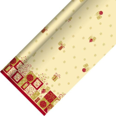 Tablecloth Airlaid 25m x 1.18m 'Christmas Symbols'