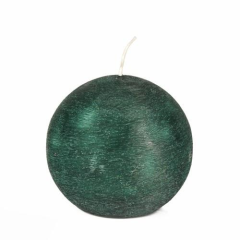 Ball Candle Round 8 cm Dark Green