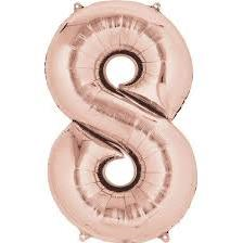 Balloon Giant Foil '8' Rose Gold