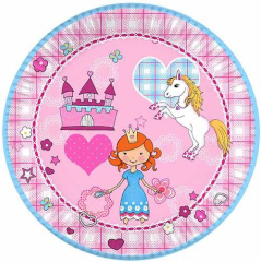 "10 Plates Paper ""Princess Dream"" Round 23cm"