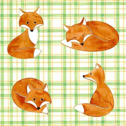 "20 Napkins ""Foxes"" Medium"