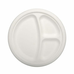 50 Plates 3-compartments White 23cm x 2cm Pure
