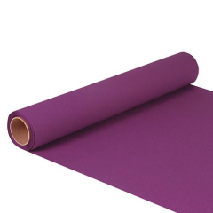 "Table Runner Tissue Purple ""ROYAL Collection"" 5m x 40cm Roll"