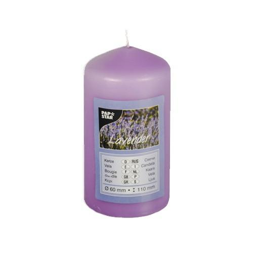 Scented Pillar Candle Lavender 60 x 110 mm