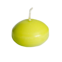 10 Floating Candles  4.5 x  3 cm Kiwi