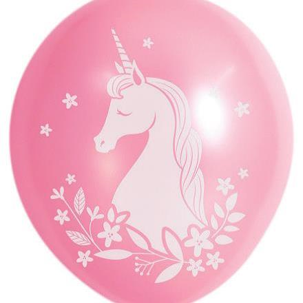 10 Balloons Latex Pink Unicorn