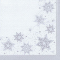 "50 Napkins White ""Just Stars"" ""ROYAL Collection"" Extra Large"