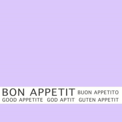 "30 Napkins Purple ""Bon Appetit"" Medium"