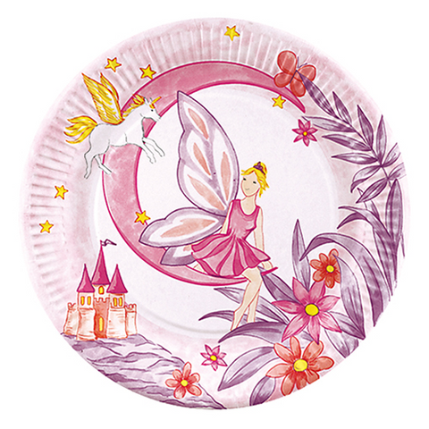 "10 Plates paper ""Fairy Tale"" Round 23cm"