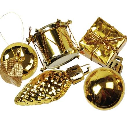 "Deco accessories gold ""Christmas Decorations"" Ø 20-60 mm Item no.:  81295"