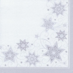 "20 Napkins ""ROYAL Collection"" 1/4 fold 40 cm x 40 cm white ""Just Stars"""