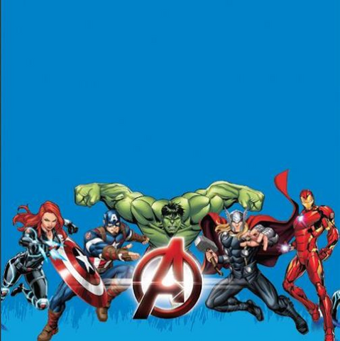 Tablecloth Plastic Marvel Avengers 1.1 x 2.4m
