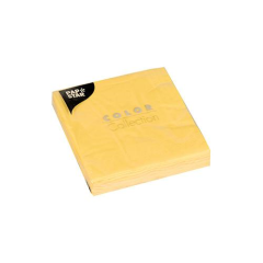 "20 Napkins Yellow ""Colour Collection"" Small"