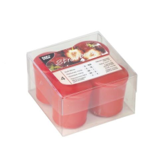 4 Scented Minis 45 mm 52 mm red strawberry