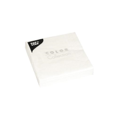 "20 Napkins White ""ColourCollection"" Small"