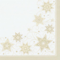 "50 Napkins Champagne ""Just Stars"" ""ROYAL Collection"" Large"