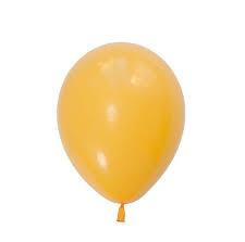 25 Balloons Latex Golden Rod