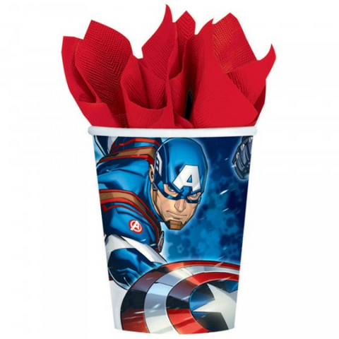 8 Cups Paper Avengers