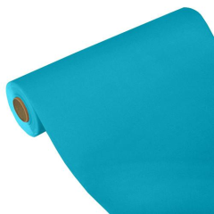 "Table Runner Tissue Turquoise ""ROYAL Collection"" 24m x 40cm Roll"