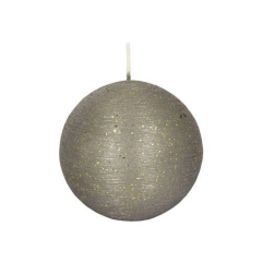 "Ball Candle Round  8cm grey ""Rustic"""