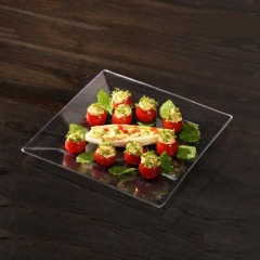 10 Fingerfood Plates PS 20.3cm x 20.3cm Crystal clear