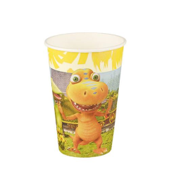 "10 Paper cups ""Dinosaur Train"" 7cm x 9.7cm"