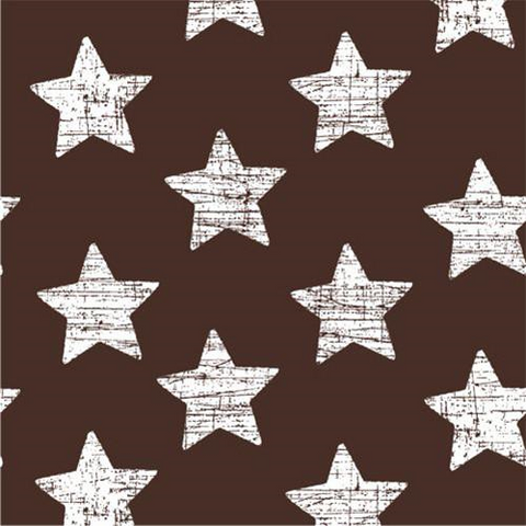 "30 Napkins Brown ""Vintage Stars"" Medium"