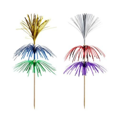 "100 Party picks 18 cm colours assorted ""Fireworks"" 3-ply"