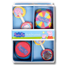 24 Piece Cupcake Decorating Kit Peppa Pig