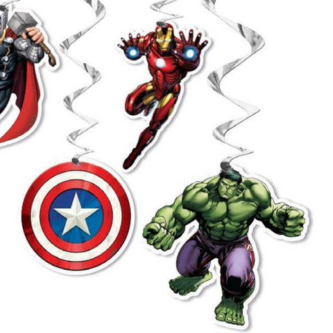 6 Hanging Decorations Marvel Avengers