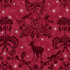"20 Napkins ""Christmas Bordeaux"" 33cm"