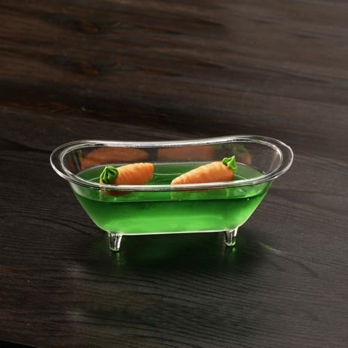 10 Bowls Fingerfood Bath Tubs Clear