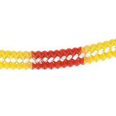 Garland 16cm x 10m red/yellow/re