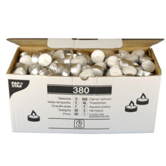 380 Tealights 38 mm 14 mm white