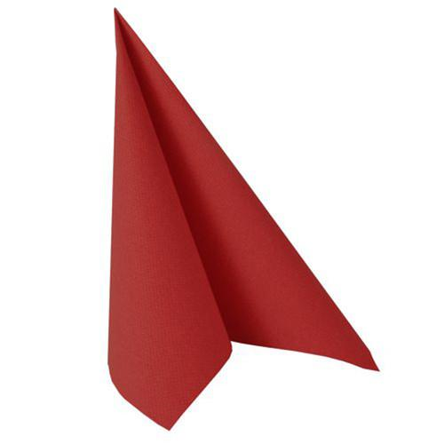 "20 Napkins ""ROYAL Collection"" 1/4 fold 40 cm x 40 cm fire red"
