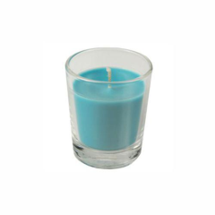 Candle in Glass Turquoise 56mm