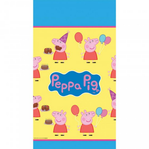 Table Cloth Plastic Peppa Pig 1.37m x 2.43m