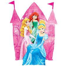 Balloon Foil Super Shape Disney Princess Sparkle 88cm x 66cm