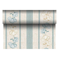 "Table Runner Tissue Turquoise"" ""Tessa"" ""ROYAL Collection"" 24m x 40cm Roll"