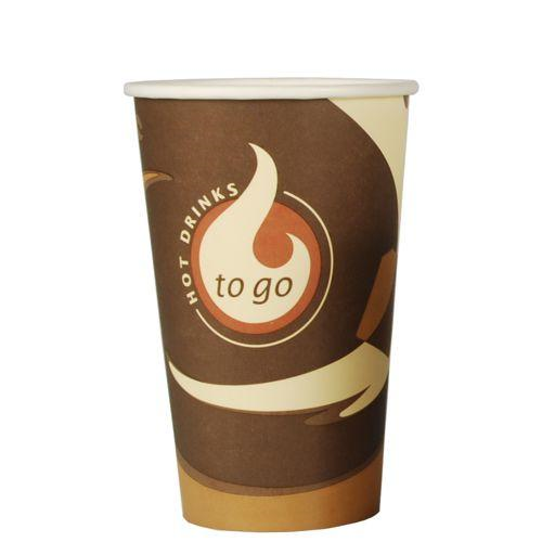 100 Cups Paper Coffee 400ml With Lid