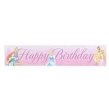 Banner Happy Birthday Disney Princess Sparkle 1.5m x 30cm