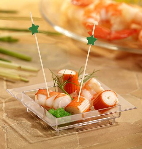 "100 Fingerfood Skewers ""Star"" 12cm"
