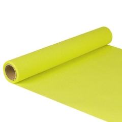 "Table Runner Tissue Lime Green ""ROYAL Collection"" 5m x 40cm Roll"